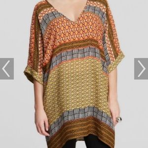 Nic+Zoe tribal print tunic top medium large